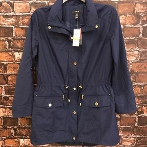 Women's M Navy Blue Style & Co utility jacket NWT✨