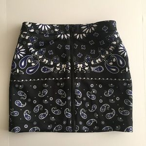 Paisley patterned mini skirt by Nasty Gal