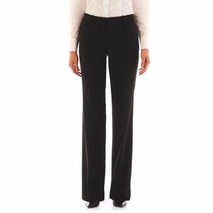 8 worthington modern fit black slack pants