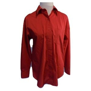 Foxcroft 10 Pink Shirt Cotton Long Sleeve Classic