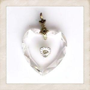 Vintage or Antique Heart Pendant for Necklace