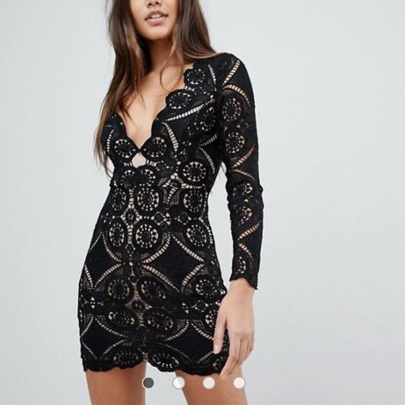 45967ea738 ASOS Dresses   Skirts - ASOS NWOT Love Triangle V Neck Mini Dress lace ...