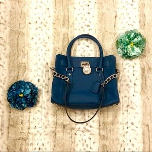 Michael Kors Hamilton Blue East West Satchel