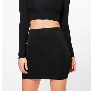 Tobi Black Bodycon Jersey Mini Skirt