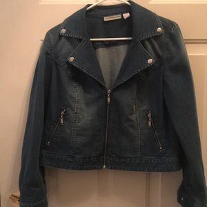 Chicos's short jean jacket!
