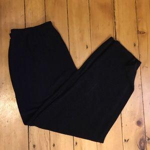 Black Lurex High Waisted Harem Pants