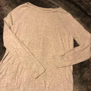 AE soft plush high low sweater