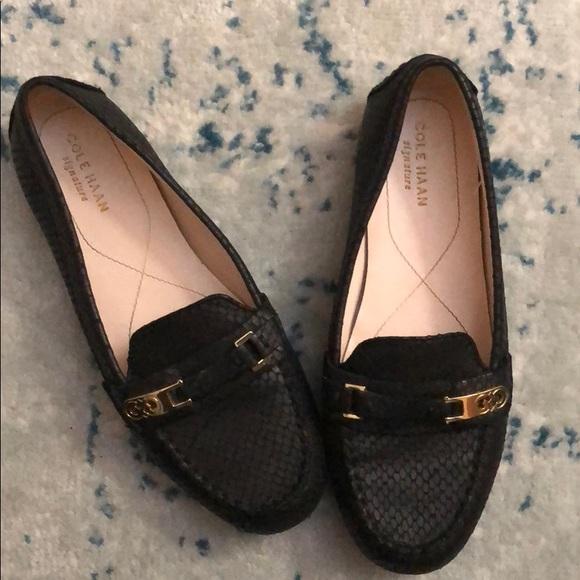Cole Haan Womens Cary Venetian Closed Toe Slide Flats Black Size 7.5