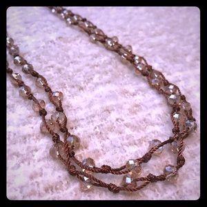 Jewelry - Shimmery Beaded Boho Necklace