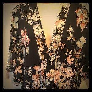 Other - NWOT: Kimono Floral Robe. Soft Matte Satin. S/M.
