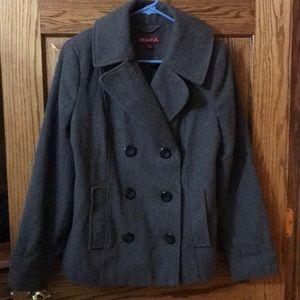 Women's Merona Gray Wool Pea Coat