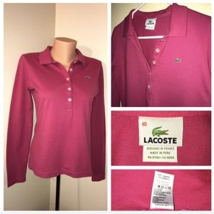 Lacoste Coral Long Sleeve 5 Button Shirt 40