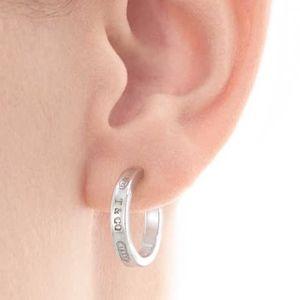 0f969b0551701 Tiffany 1837 Sterling Silver Hoop Earrings Medium