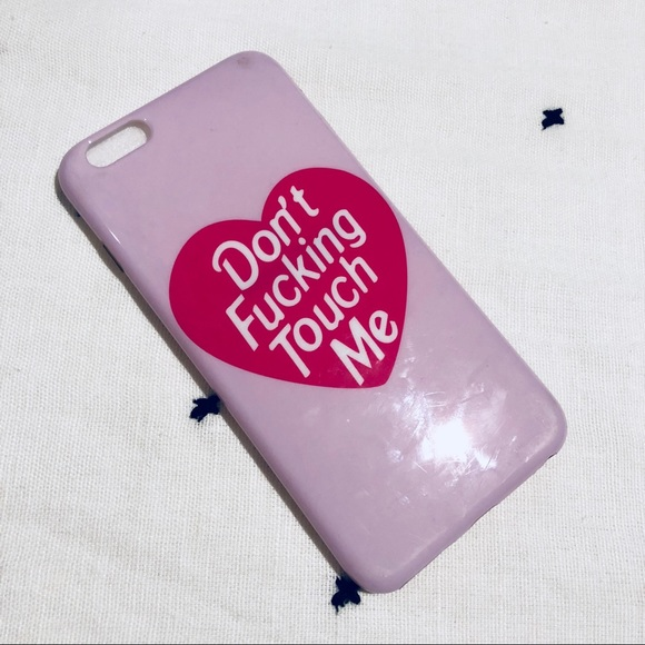 "VELVET CAVIAR Accessories - VELVET CAVIAR ""don't touch me"" IPHONE 6+ CASE"