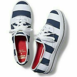 Keds for Kate Spade Navy & White Striped Sneakers