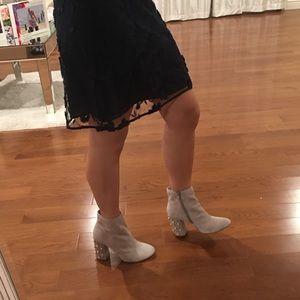 a5dd3729812 Steve Madden Yvette bootie cream beige Pearl heel