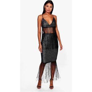 metallic tassel skirt NYE 0/2 *read description *