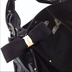 Ferragamo Miss Vara Bow Patent Leather Tote
