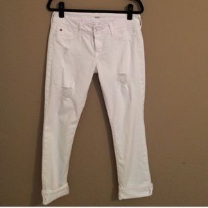 White ripped Hudson jeans