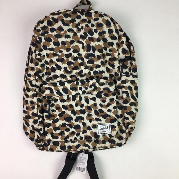 22199007636 NWT Herschel Leopard Classic Mid Backpack