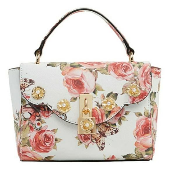 b79986db323 Brand new Aldo Badesse White   Pink Floral bag