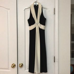 Jessica Howard Black Cream Dress