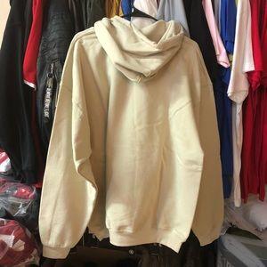 Sweaters - Trap Bogo Hoodie - Beige w/ White