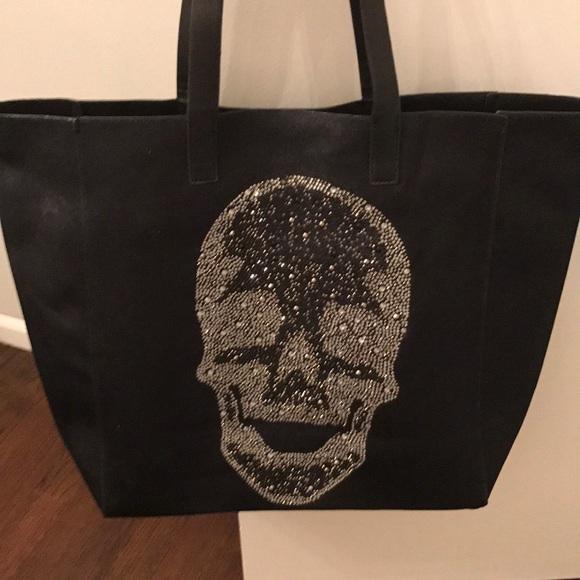 849749d69 ahdorned Handbags - Ahdorned Black velvet skull tote