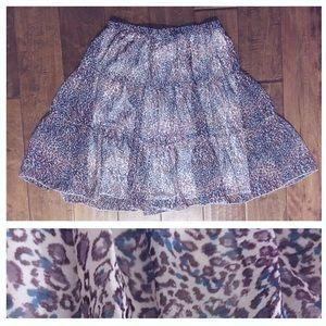 Dresses & Skirts - Sheer Leopard Print Skirt