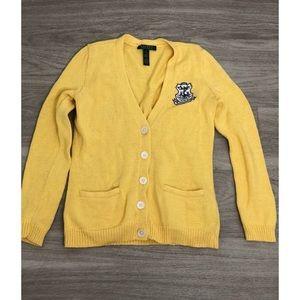 Ralph Lauren Yellow Knit Button Up Cardigan