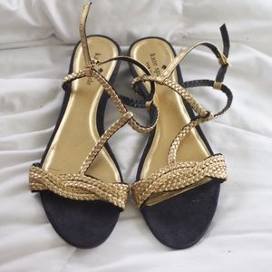 Braided Navy & Gold Kate Spade Sandals