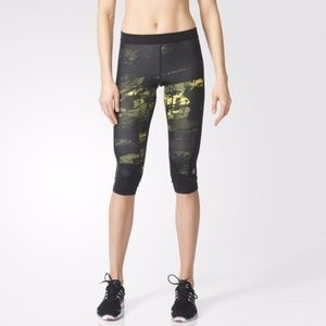 EUC Adidas Women's TECHFIT 3/4 Tights In Shosli