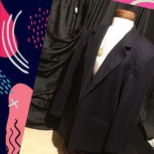 Sag Harbor 100% wool navy blue jacket