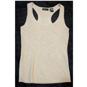 Gold shimmery Dressy sweater  tank top