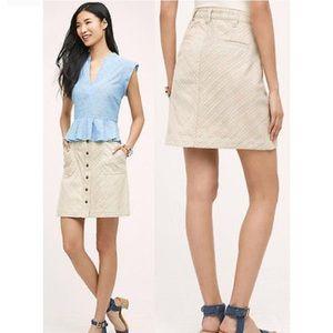 Anthropologie Chino Striped Skirt