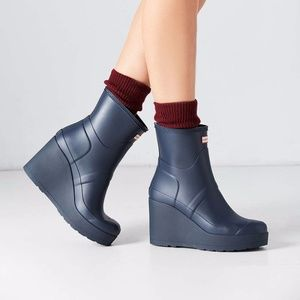 NEW Hunter Original Mid Wedge Rain Boot short