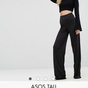 Asos Tall Slinky Wide Leg Trousers