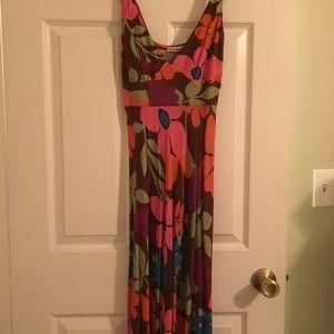 70's vintage floral dress