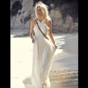 Needle & Thread Pleated Maxi Wedding Gown Dress 4