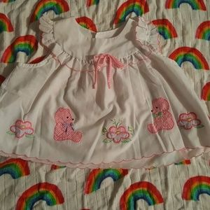 Vintage embroidered baby girl's shirt
