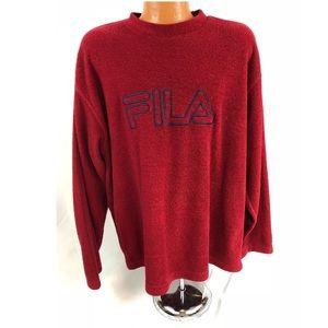 Vintage 90s Fila Fleece Crewneck Sweatshirt