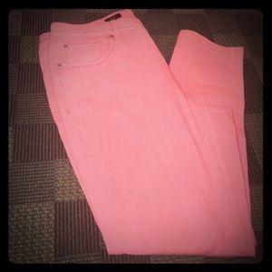 Premium neon orange stretch skinny jean