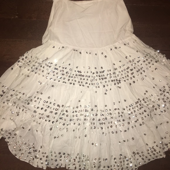 White Sequin skirt size small