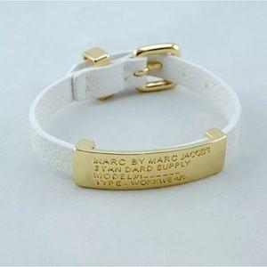 Marc by Marc Jacobs White Faux Leather Bracelet