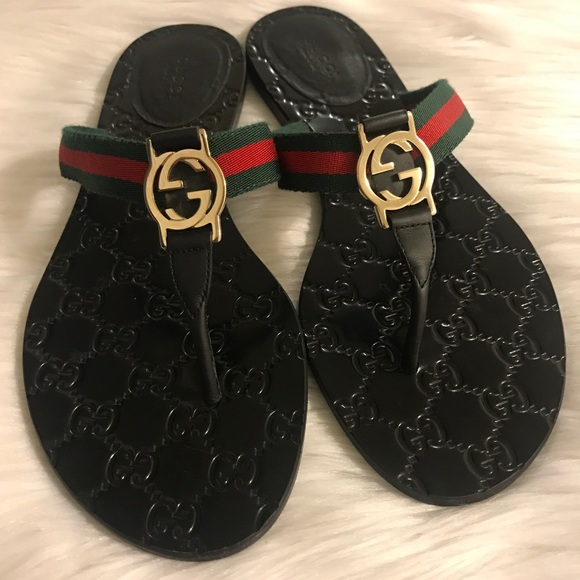Gucci Shoes | Gucci Gg Logo Sandals