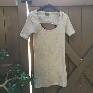 Obey Black/White Stripe Bodycon Mini Dress...HOT!