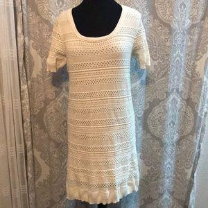 MNG (Mango) White Knit Dress