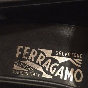 Salvatore Ferragamo velvet loafers