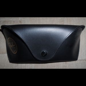 Ray-Ban Black Sunglasses Case and Cleaning Cloth