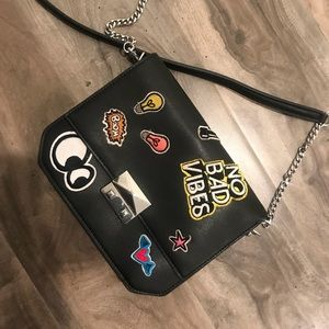 ZARA BAG WITH PATCHES 👁